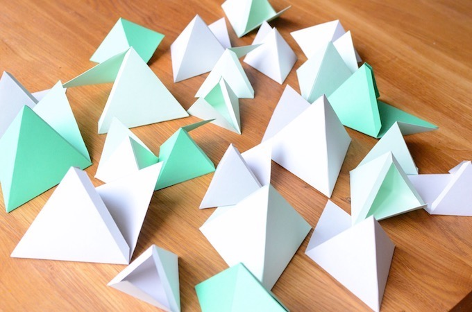 Adventskalender Pyramidengletscher - Pyramiden ohne Zahlen