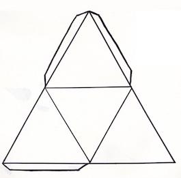 Adventskalender Pyramidengletscher - Schnittvorlage Pyramide