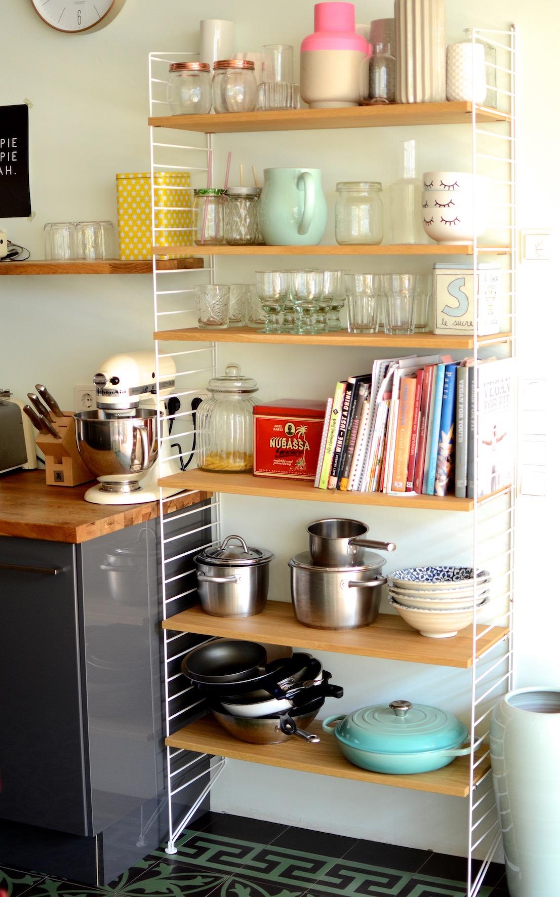 Wohnküche Loft cooles Regal