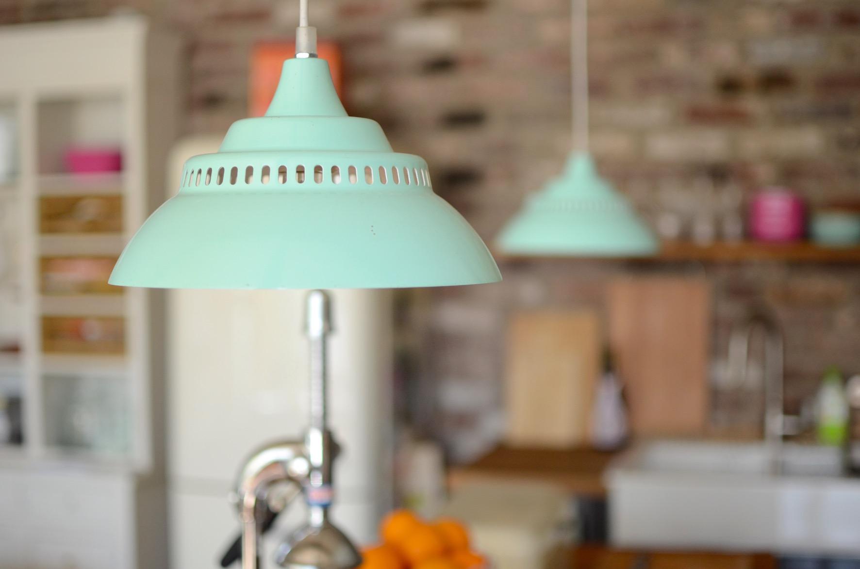 Wohnküche Loft Lampen Industriestyle