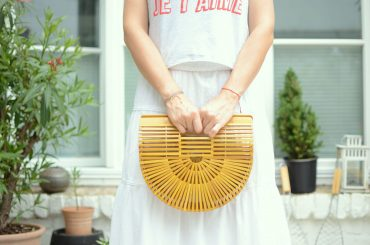 Holzstäbchen Tasche